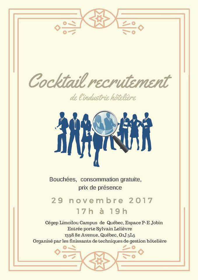 Cocktail recrutement 29 novembre 2017