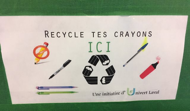 Affiche Recycle tes crayons