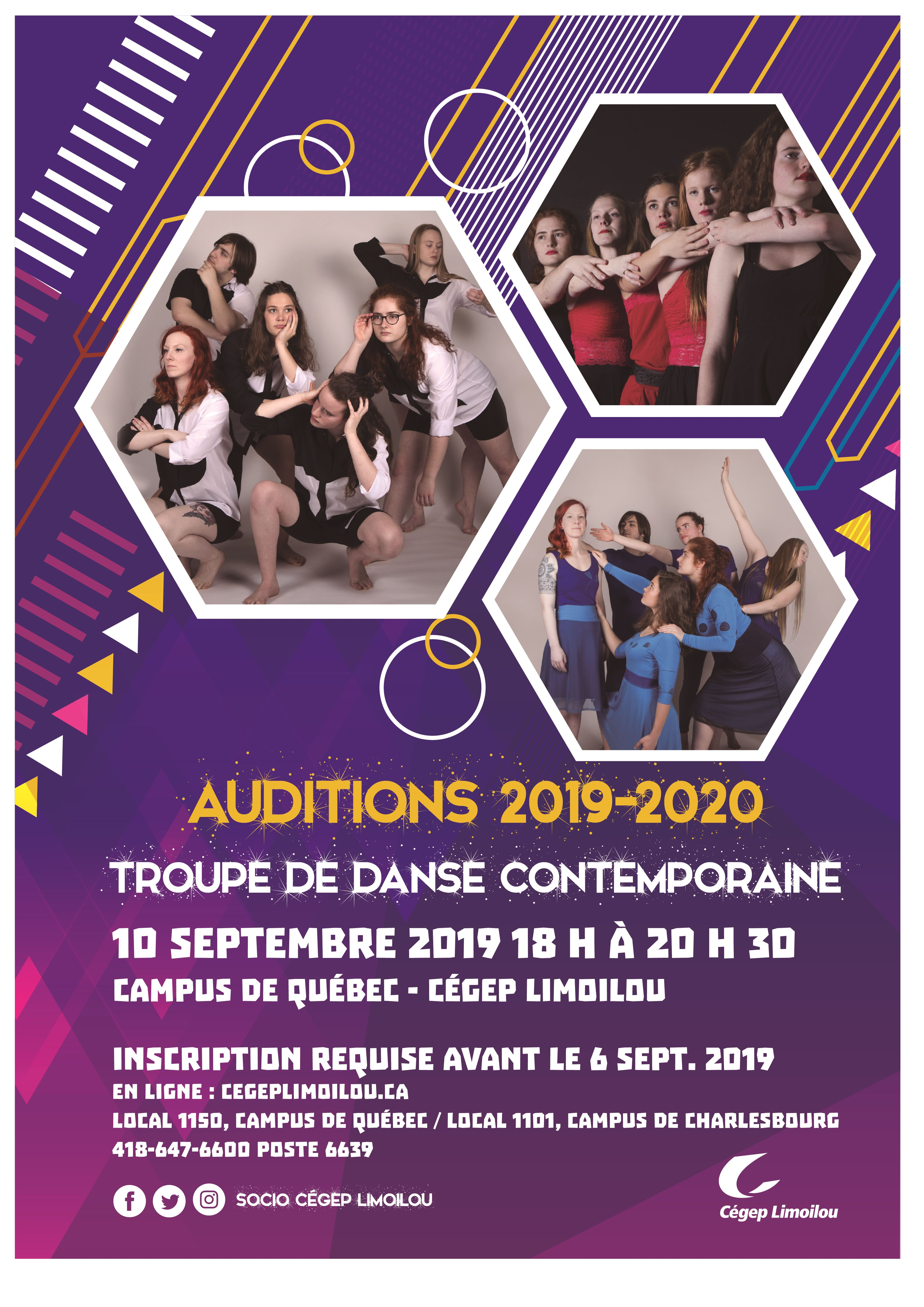 Affiche Auditions Danse Septembre 2019