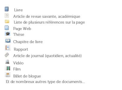 Type de document Zotero