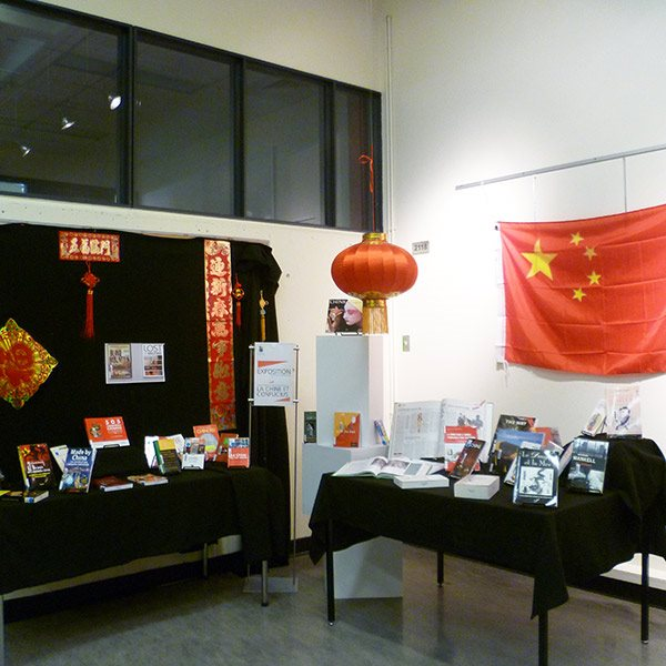 Exposition chinoise bibliothèque