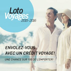 Affiche loto-voyages Fondation Monique-Fitz-Back
